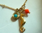 Peachy keen necklace- custom order for adefuria