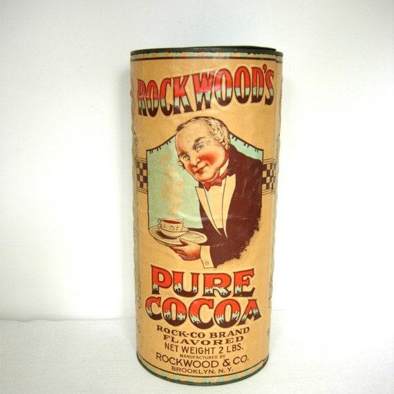 Antique Rockwood's Cocoa Can, Brooklyn NY