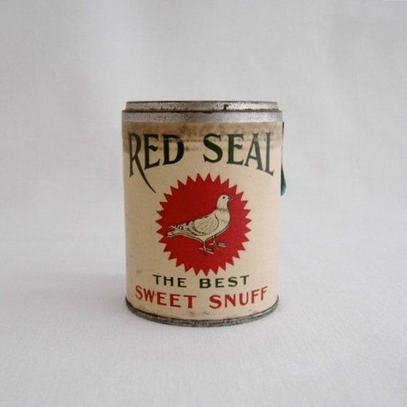 Vintage Red Seal Snuff Sample Can
