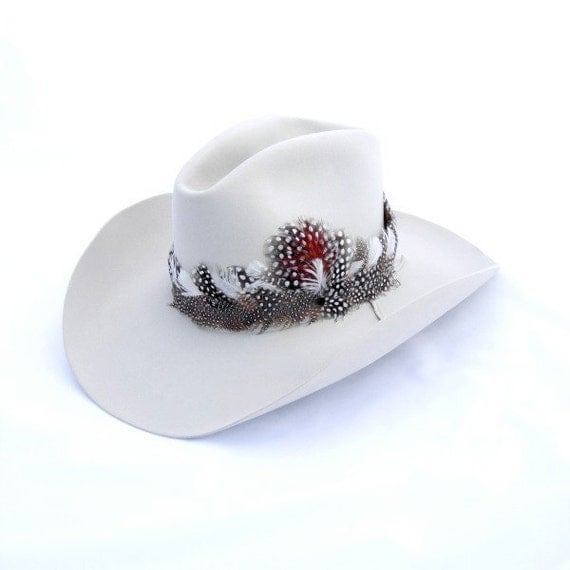 Vintage Hat Western Cowboy Resistol Feather Band Size 7 in Box w Brush