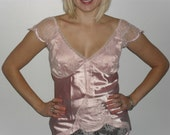 Silky Pink Lacy Cami