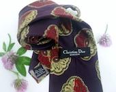 Authentic Designer --- CHRISTIAN DIOR--- Silk Necktie---- Superb Condition--Made In Italy