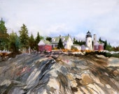 Pemaquid Point Light--- MAIN----Watercolor By Ray Lockhart