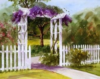 SECRET GARDEN----------Watercolor By Ray Lockhart