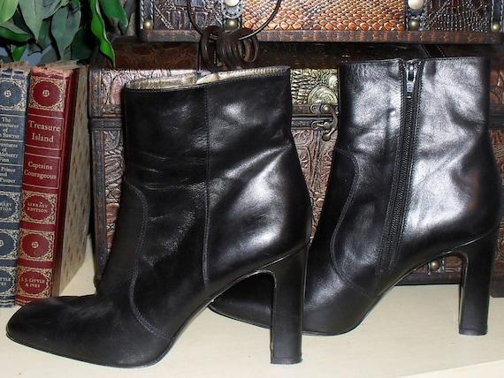 MARVELOUS Designer  Black ankle Boots-----VIA SPIGA ----- 8-8.5