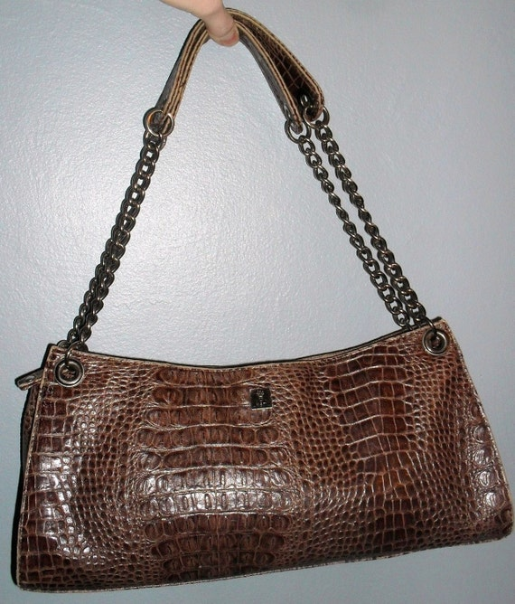 Authentic KEM------Handbag---Croc Embossed ----super cool