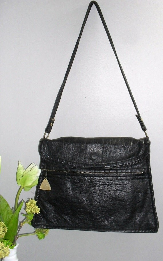 1950s JR of florida VINTAGE Black Leather Beauty -----AWESOME