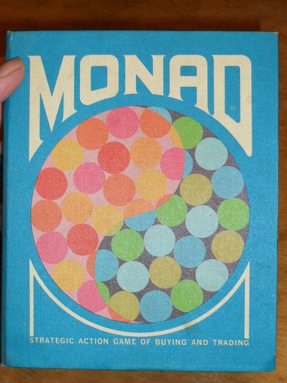 Card Game------MONAD---Strategic Action game of Buying and Trading---1970---By 3M Company