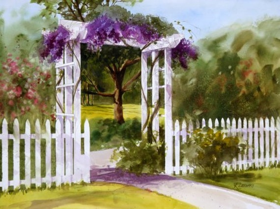 SECRET GARDEN----------Watercolor By Ray Lockhart