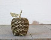 Vintage Studded Brass Apple