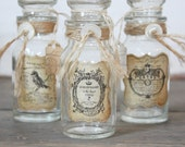 Rustic French Inspired Vintage Bottle