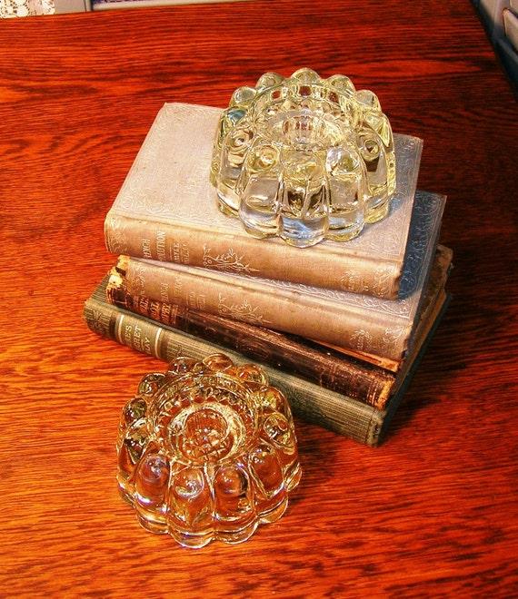 Princess House, Crystal Candle Holders, Versatile size, Circa 70s