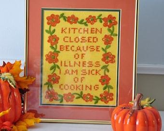 Cross Stitch - Framed - Kitchen Closed