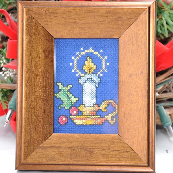 Christmas Lights Shop Adelaide: Cross Stitch Framed Christmas Light By Thesilverthimble On