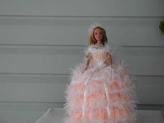 BARBIE Doll / toilet paper doll/ peach