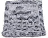 Knitting Cloth Pattern  - ELEPHANT -   PDF
