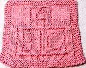 Knitting Cloth Pattern  - A B C BLOCKS - PDF