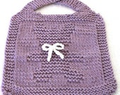 BIB Knitting Pattern - Teddy Bear  PDF