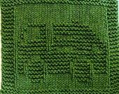 Knitting Cloth Pattern - GARBAGE TRUCK - PDF