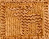 Knitting  Cloth Pattern  -  MOOSE -    PDF