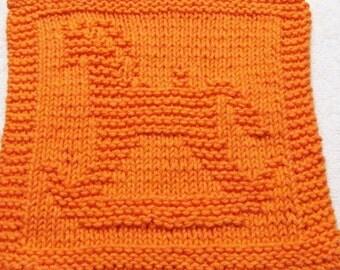 Knitting Cloth Pattern  - ROCKING HORSE -  PDF