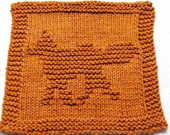 Knitting Cloth Pattern - FOX -  PDF