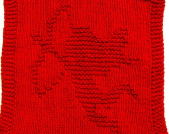 Large Knitting Cloth Pattern  - CUPID - PDF  Instant Download