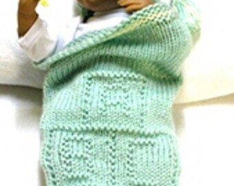 ABC BLOCKS Cocoon & Matching Beanie Knitting Pattern - Free Pod Pattern