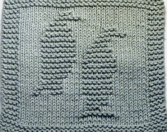 Knitting Cloth Pattern - PENGUINS - PDF