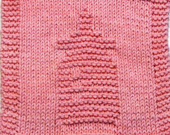 Knitting Cloth Pattern - BABY BOTTLE  - PDF