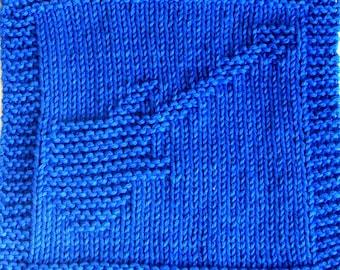 Knitting Cloth Pattern -  GUITAR - PDF