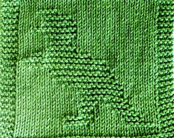 Knitting Cloth Pattern - T-REX DINOSAUR - PDF