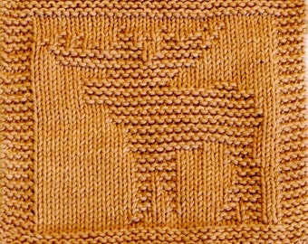 Knitting  Cloth Pattern  -  MOOSE -    PDF