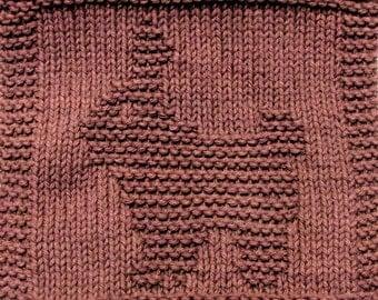 Knitting  Cloth Pattern  -  CHOCOLATE BUNNY   -  PDF