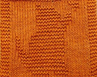 Knitting  Cloth Pattern  -  PLAYFUL KITTY -    PDF
