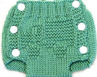 TRUCK - Diaper Cover Knitting Pattern - PDF - Small