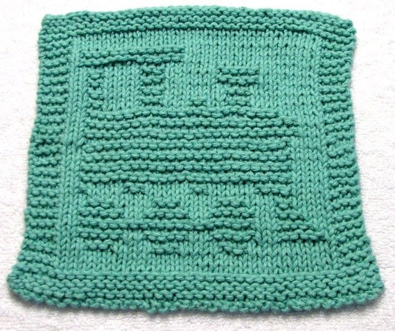 Knitting Cloth Pattern  - TRAIN -  PDF