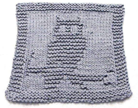Knitting Cloth Pattern,    Owl -  PDF