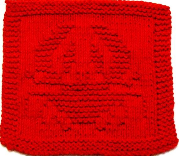 Knitting Cloth Pattern   -  CRAB  -  PDF