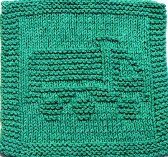 Knitting Cloth Pattern - DUMP TRUCK -  PDF