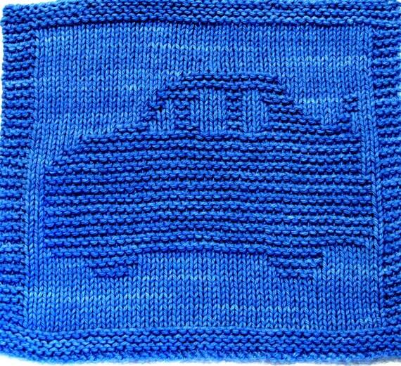 Car Knitting Pattern : Knitting Cloth Pattern RACE CAR PDF