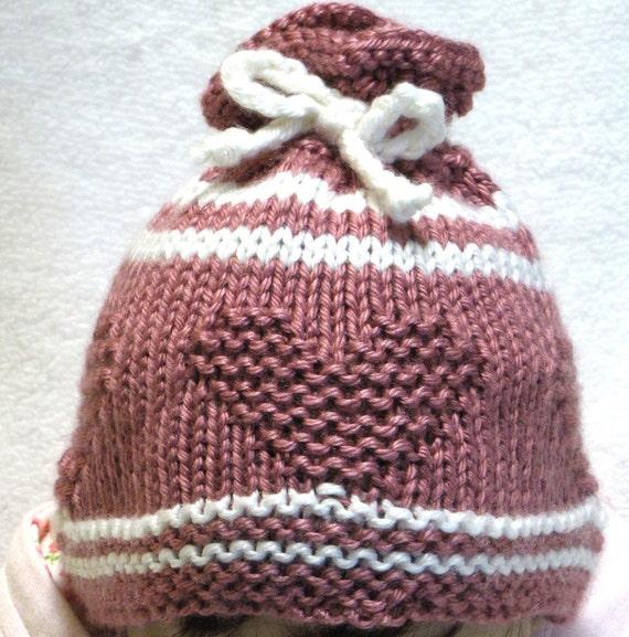 Knitting Pattern For Neonatal Hats : Knitting Pattern SWEETHEART Baby Hat NEWBORN PDF