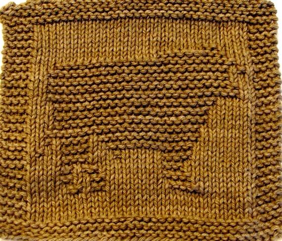Knitting Cloth Pattern   -  BULL -  PDF
