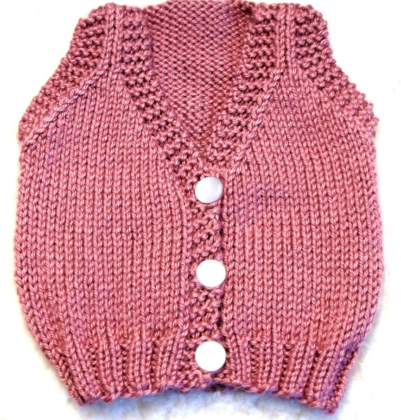 Knitting Pattern Baby Undershirt : Baby Vest Knitting Pattern SMALL PDF