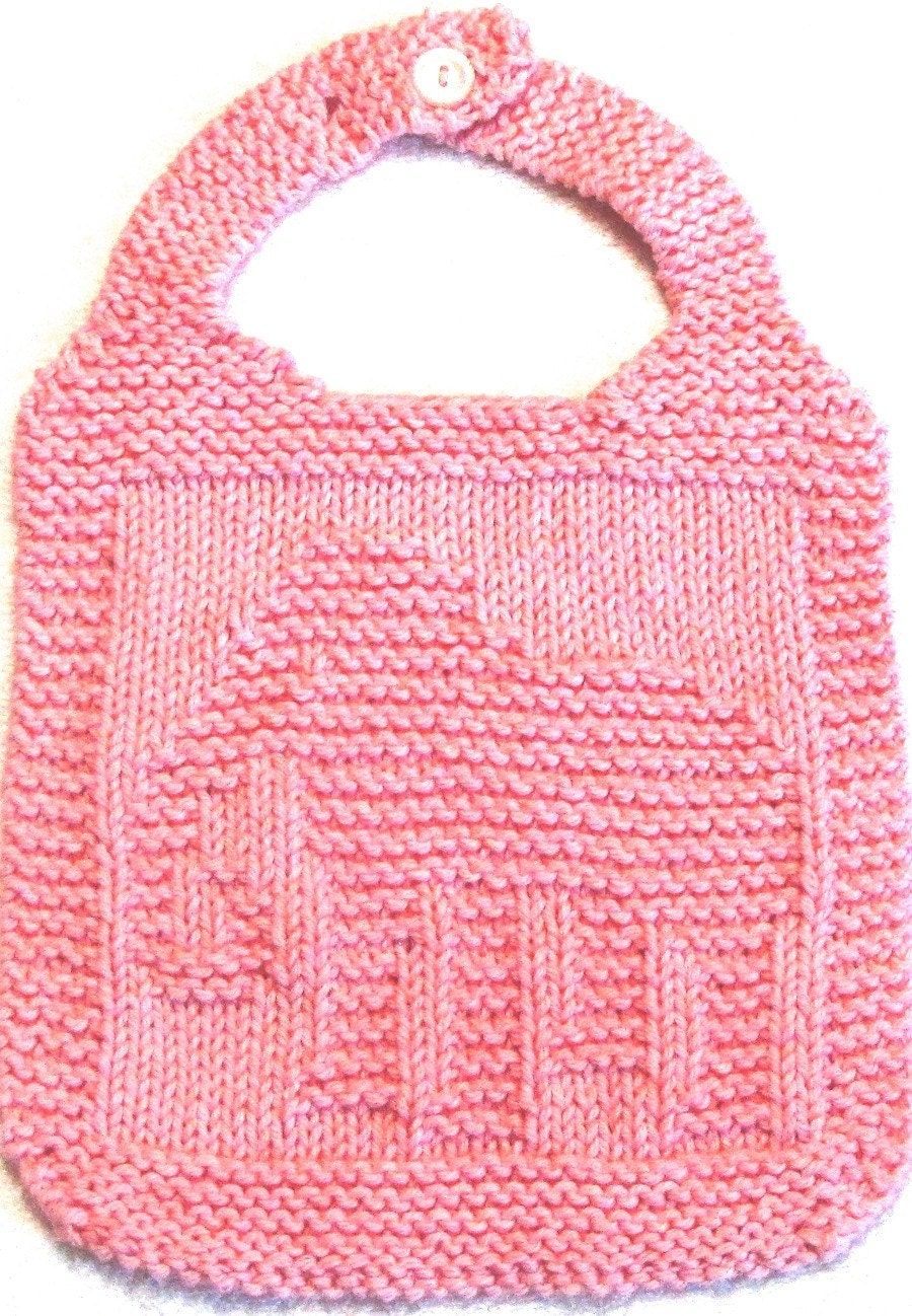 Knitting BIB Pattern ELEPHANT PDF