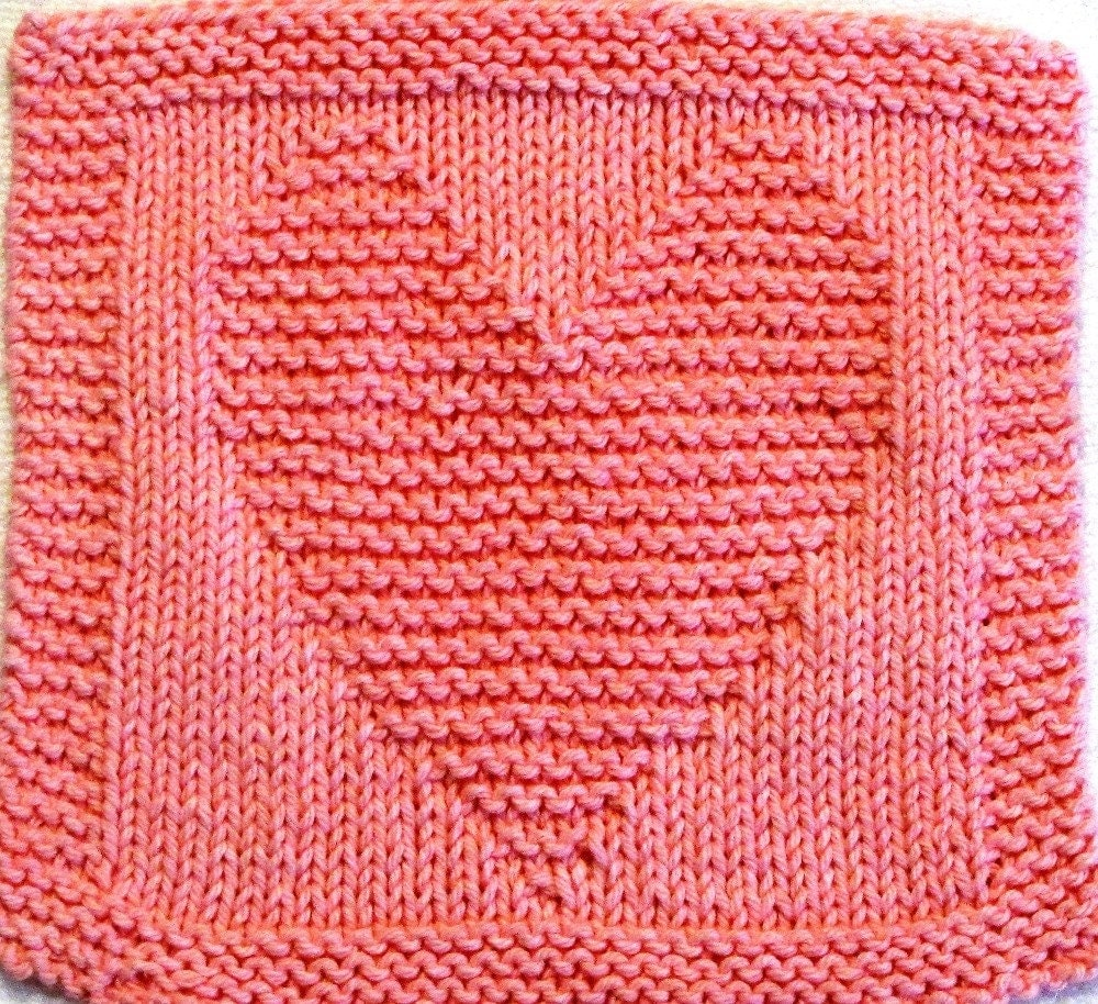 Knitting Cloth Pattern HEART PDF