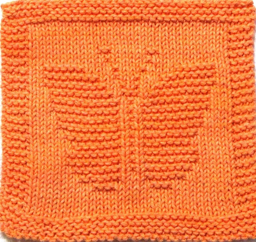 Knitting Cloth Pattern BUTTERFLY PDF