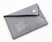 Business Card Holder - Gray with White Circles (LAST ONE)
