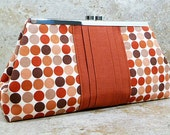 Clutch Purse - Orange and Brown Dots (Limited Edition)