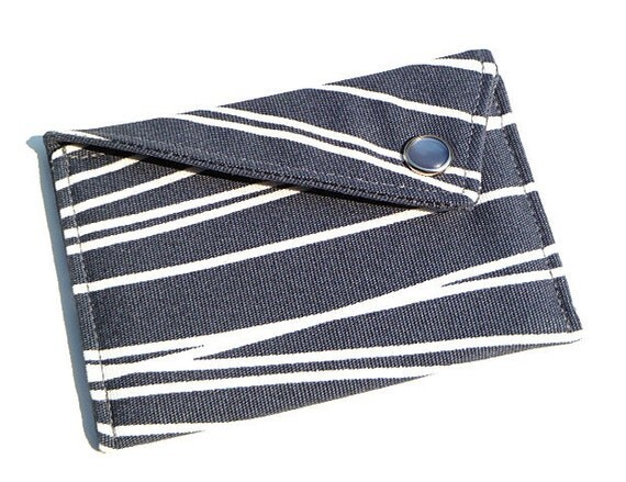 Business Card Holder - Grey with White Lines (Limited Edition)